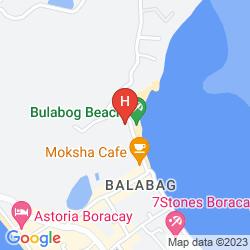 Karte BOLABOG BEACH RESORT