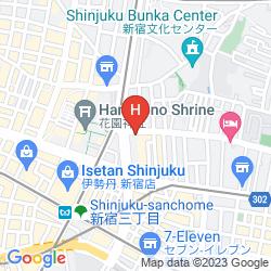Karte VIA INN SHINJUKU