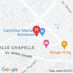 Karte BEST WESTERN MARSEILLE BONNEVEINE PRADO