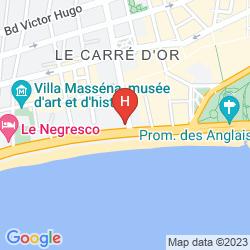 Karte HYATT REGENCY NICE PALAIS DE LA MEDITERRANEE