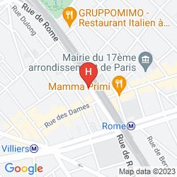 Karte MERCURE PARIS ST LAZARE MONCEAU