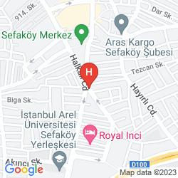 Karte CROWNE PLAZA ISTANBUL - FLORYA