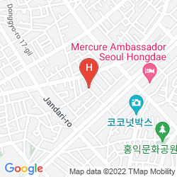 Karte HONGDAE ORANGE GUESTHOUSE