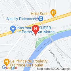 Karte MILTON HOTEL PARIS