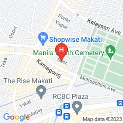 Karte THE SUEZ SERVICED STUDIOS MAKATI