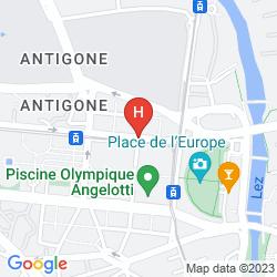 Karte MERCURE MONTPELLIER ANTIGONE