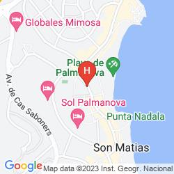 Karte SOL BEACH HOUSE CALA BLANCA