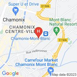 Karte MERCURE CHAMONIX CENTRE