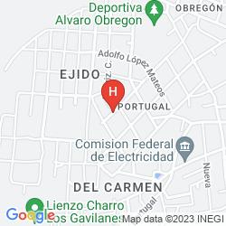 Karte GAMMA CIUDAD OBREGON BY FIESTA INN