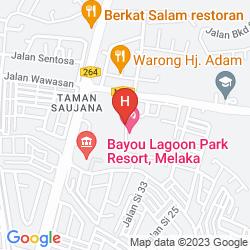 Karte BAYOU LAGOON PARK RESORT