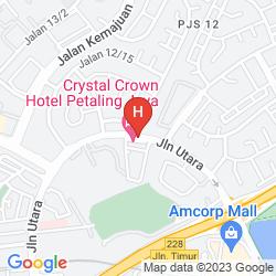 Karte CRYSTAL CROWN HOTEL PETALING JAYA