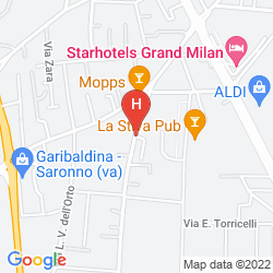 Karte MALPENSA FIERA MILANO HOSTEL