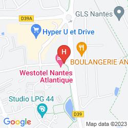 Karte WESTOTEL NANTES ATLANTIQUE