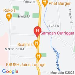 Karte THE SAMOAN OUTRIGGER HOTEL