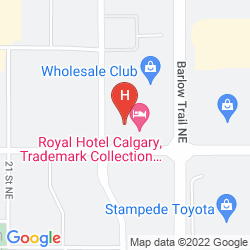 Karte EXECUTIVE ROYAL HOTEL CALGARY