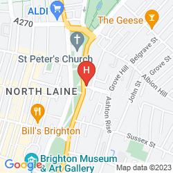 Karte JOURNEYS BRIGHTON HOSTEL