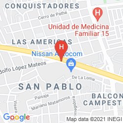 Karte MISION EXPRESS QUERETARO