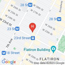 Karte HAMPTON INN MANHATTAN-CHELSEA