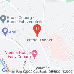 Karte VIENNA HOUSE EASY COBURG