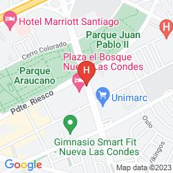 Karte PLAZA EL BOSQUE NUEVA LAS CONDES
