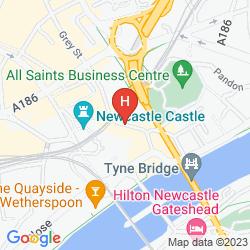 Karte TUNE HOTEL NEWCASTLE