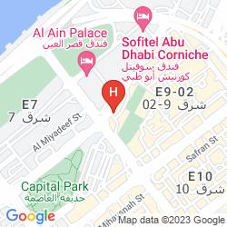 Karte TRYP BY WYNDHAM ABU DHABI CITY CENTRE