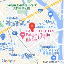 Karte GUEST HOUSE ALOHA SPIRIT HAKATA STATION