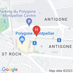 Karte IBIS MONTPELLIER CENTRE VILLE