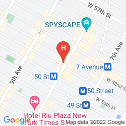 Karte HAMPTON INN MANHATTAN-TIMES SQUARE NORTH