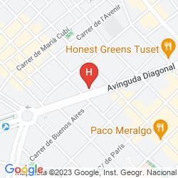 Karte WOW HOSTEL BARCELONA