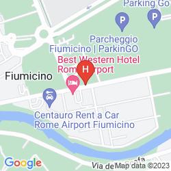Karte BEST WESTERN HOTEL ROME AIRPORT