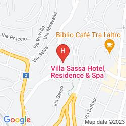 Karte VILLA SASSA HOTEL RESIDENCE & SPA
