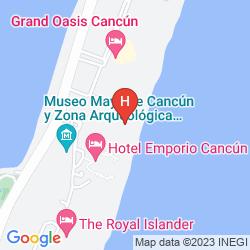 Karte FIESTA AMERICANA CONDESA CANCUN ALL INCLUSIVE