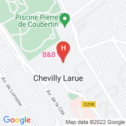 Karte B&B HOTEL ORLY CHEVILLY MARCHé INTERNATIONAL