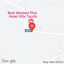 Karte BEST WESTERN PLUS HOTEL VILLA TACCHI