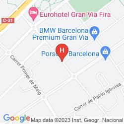 Karte EUROHOTEL BARCELONA GRANVIA FIRA