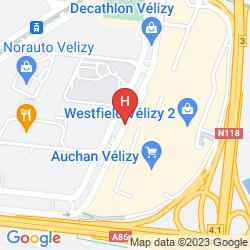 Karte IBIS STYLES PARIS VELIZY