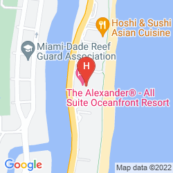 Karte THE ALEXANDER ALL SUITE OCEANFRONT RESORT