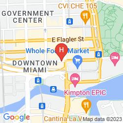 Karte COURTYARD MIAMI DOWNTOWN/BRICKELL AREA