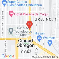 Karte HOLIDAY INN EXPRESS & SUITES CIUDAD OBREGON