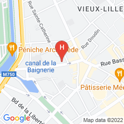 Karte CLARANCE HOTEL LILLE