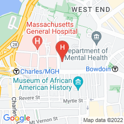 Karte WYNDHAM BOSTON BEACON HILL