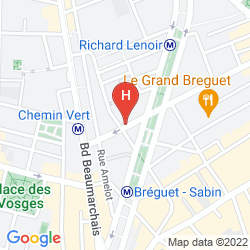 Karte MOXY PARIS BASTILLE