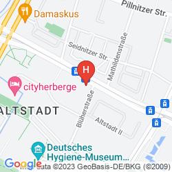 Karte DORINT HOTEL DRESDEN