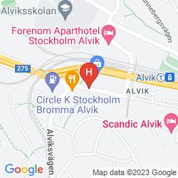 Karte SCANDIC ALVIK