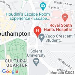 Karte JURYS INN SOUTHAMPTON