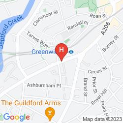 Karte NOVOTEL LONDON GREENWICH