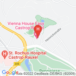 Karte VIENNA HOUSE EASY CASTROP-RAUXEL