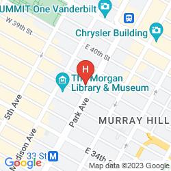 Karte THE KITANO HOTEL NEW YORK