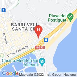 Karte TRYP CIUDAD DE ALICANTE